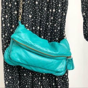 Deux Lux Turquoise Faux Leather Bag